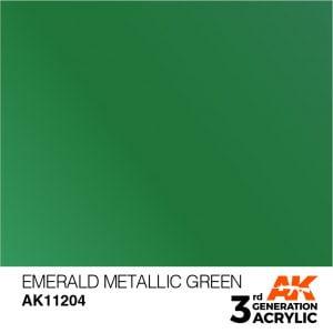 AK Interactive Acrylic Esmerald Green Metallic 11204