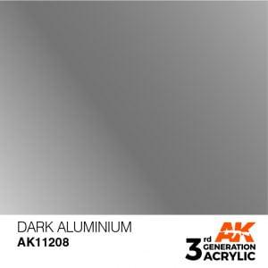 AK Interactive Acrylic Dark Aluminium Metallic 11208
