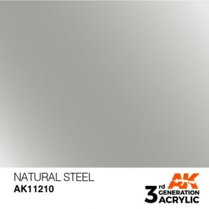 AK Interactive Acrylic Natural Steel Metallic 11210