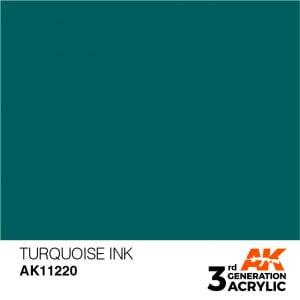 AK Interactive Acrylic Turquoise Ink 11220
