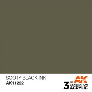 AK Interactive Acrylic Sooty Black Ink 11222
