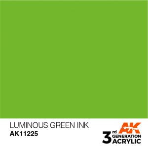 AK Interactive Acrylic Luminous Green Ink 11225