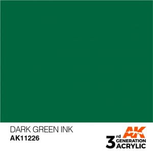 AK Interactive Acrylic Dark Green Ink 11226