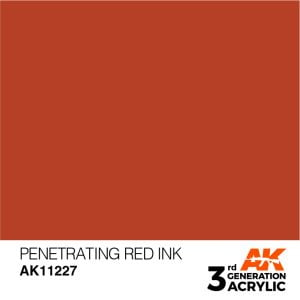 AK Interactive Acrylic Penetrating Red Ink 11227