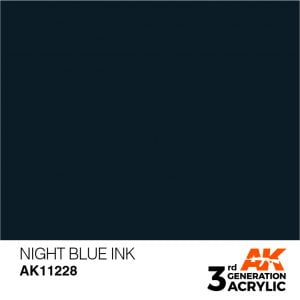 AK Interactive Acrylic Night Blue Ink 11228