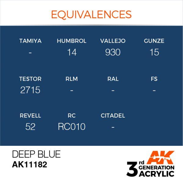 EQUIVALENCES AK Interactive Acrylic Deep Blue Intense 11182