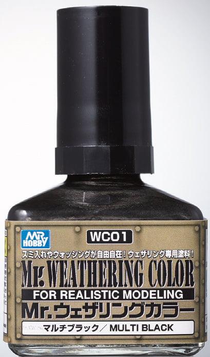 Mr Weathering Color Multi Black WC01