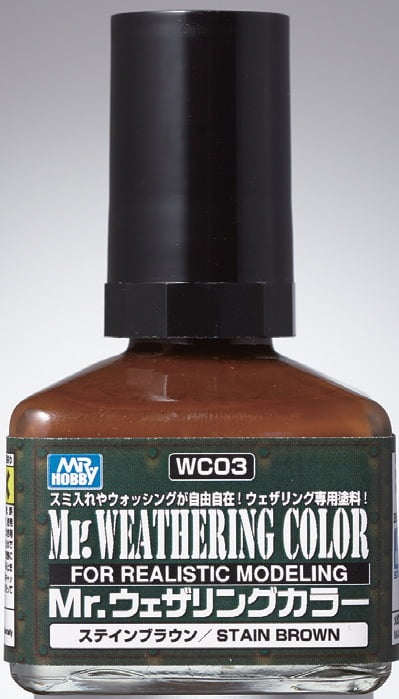 Mr Weathering Color Stain Brown WC03