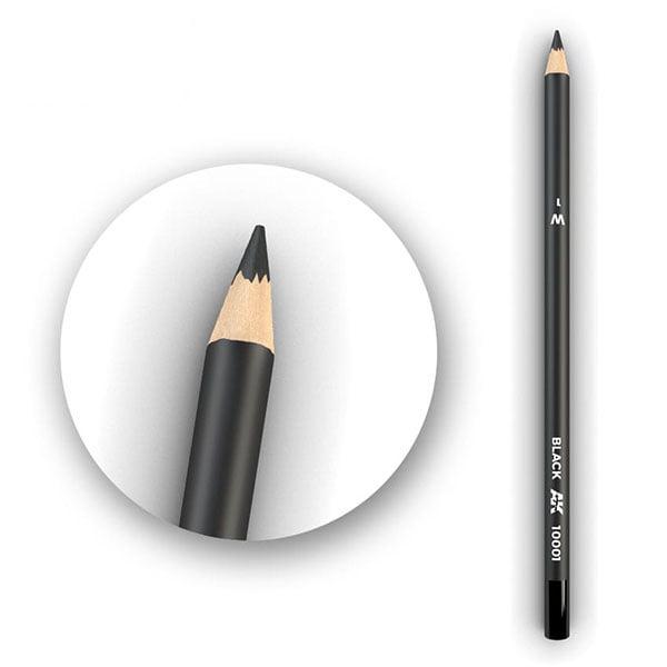 AK Interactive Watercolor Pencil Black AK10001