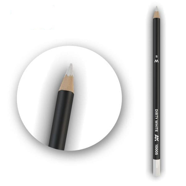 AK Interactive Watercolor Pencil Dirty White