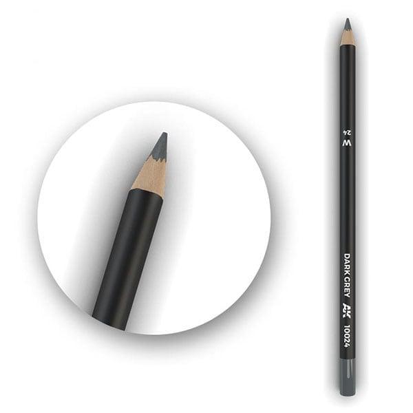 AK Interactive Watercolor Pencil Dark Grey