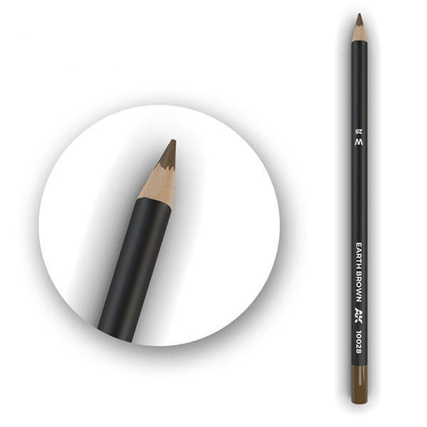 AK Interactive Watercolor Pencil Earth Brown