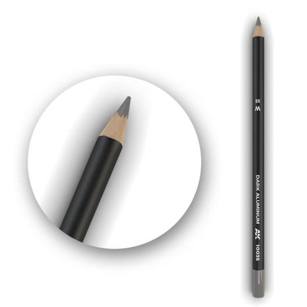 AK Interactive Watercolor Pencil Dark Aluminum Nickel