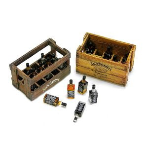 Doozy Wooden Boxes and Jack Daniels Bottles Kit 1/24 Scale