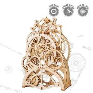 Robotime 3D Puzzle Movement Wooden Pendulum Clock