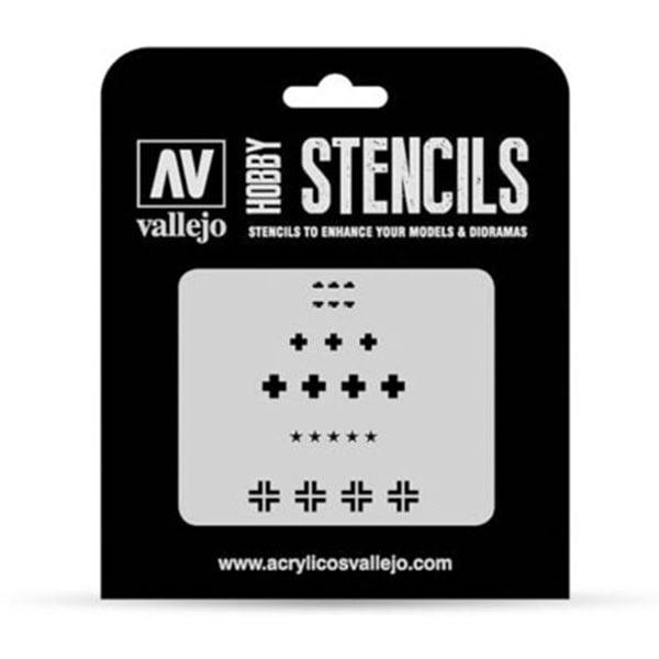 Vallejo Stencils Assorted German WWII Tank Markings 1/35 Scale ST-AFV001