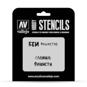 Vallejo Stencils Soviet Slogans WWII No 1 1/35 Scale ST-AFV004