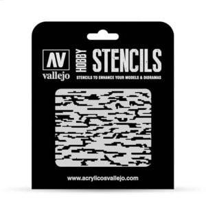 Vallejo Stencils Pixelated Modern Camo 1/32 1/35 Scale ST-CAM004