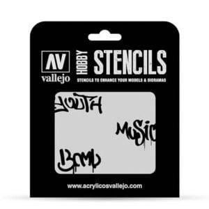Vallejo Stencils Street Art No 1 1/35 Scale ST-LET003