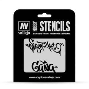 Vallejo Stencils Street Art No 2 1/35 Scale ST-LET004