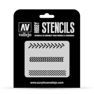 Vallejo Stencils Tyre Markings 1/35 Scale ST-TX002