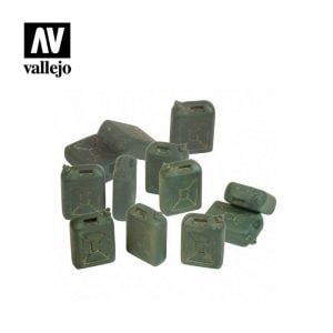 Vallejo SC208 IDF Jerry Can Set - 12 Pieces 1:35 Scale
