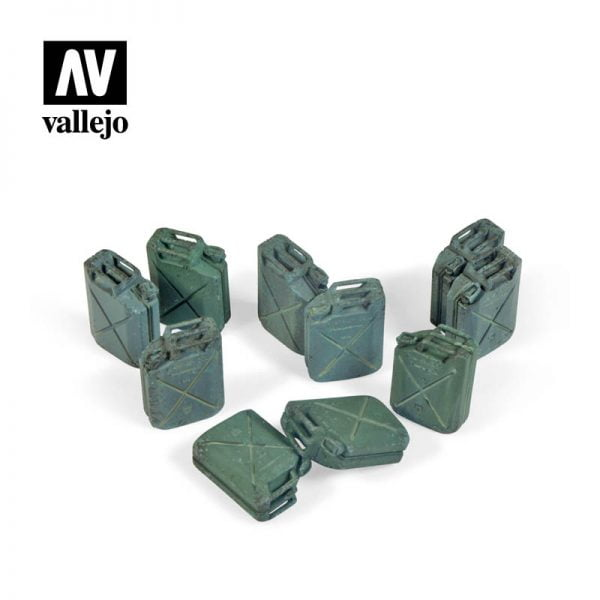 Vallejo SC206 Allied Jerry Can Set - 12 Pieces 1:35 Scale