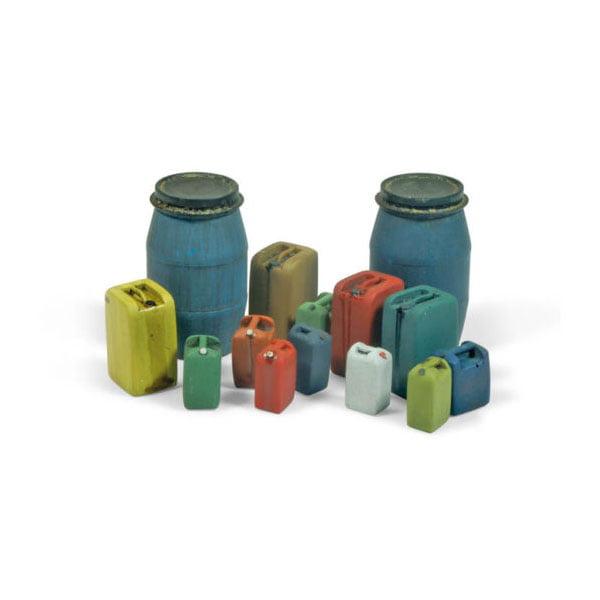Vallejo Assorted Civilian Plastic Drums #2 - 14 Pieces 1/35 Scale SC211