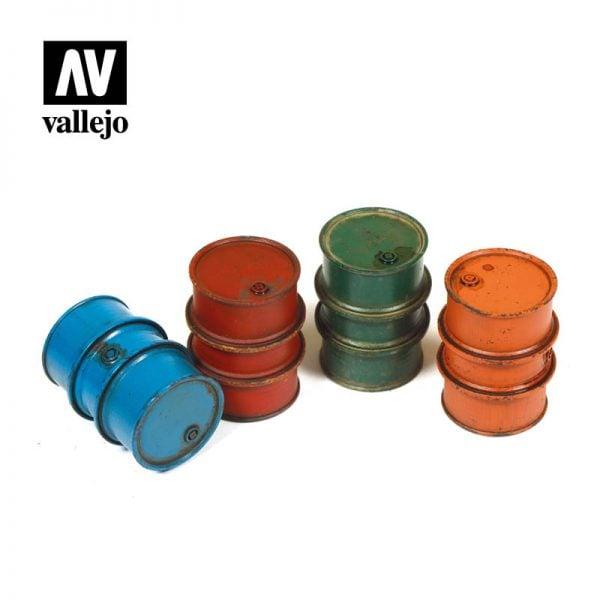 Vallejo SC203 Civillian Fuel Drums - 4 Pieces 1:35 Scale