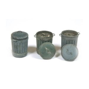 Vallejo Garbage Bins #1 - 3 Pieces 1/35 Scale SC212