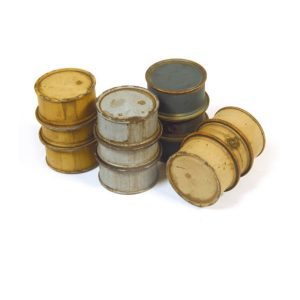 German Fuel Drums #1 - 4 Pieces 1:35 Scale