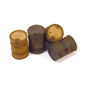 German Fuel Drums #2 - 4 Pieces 1:35 Scale