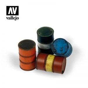 Vallejo SC204 Modern Fuel Drums - 4 Pieces 1:35 Scale