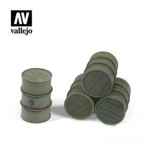 Vallejo SC205 Wehrmacht Fuel Drums - 4 Pieces 1:35 Scale
