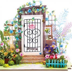 Robotime DIY Miniature Dollhouse Kit Garden Entrance with LED Light DGM02