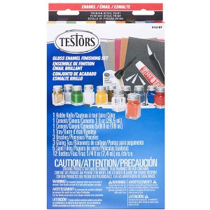 Testors Gloss Enamel Paint Finishing Kit