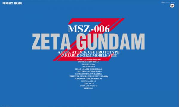 Bandai Gundam MSZ-006 Zeta Perfect Grade 1/60 Scale 075680