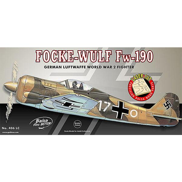 Guillows Focke-Wulf Fw-190 25.75 Inch Wingspan Laser Cut 406LC