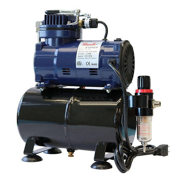 Paasche 1/5 HP Piston Compressor with Tank and Regulator D3000R