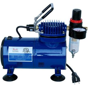 Paasche 1/5 HP Oilless Piston Compressor with Regulator and Auto Shutoff D500SR