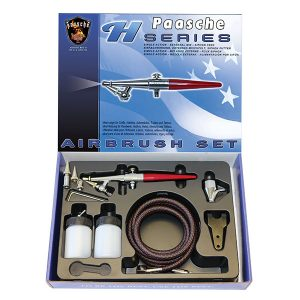 Paasche Airbrush Set with all Three Heads H-SET