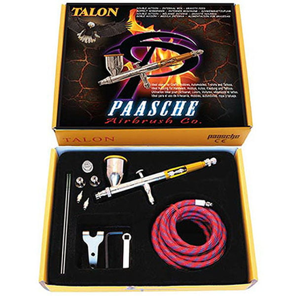 Paasche Talon Set with All Three Heads and Fan Aircap TG-3F