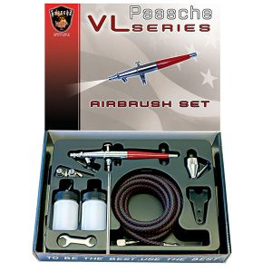Paasche Airbrush Set with All Three Heads VL-SET