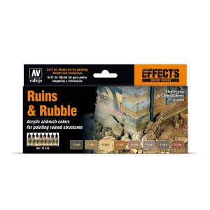 Vallejo Ruins and Rubble Paint Set