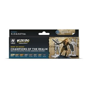Vallejo Champions Of The Realm WizKids Premium Paint Set 80250