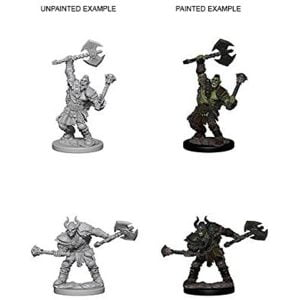 WizKids Pathfinder Deep Cuts Unpainted Miniatures Wave 3 Half-Orc Male Barbarian 72613