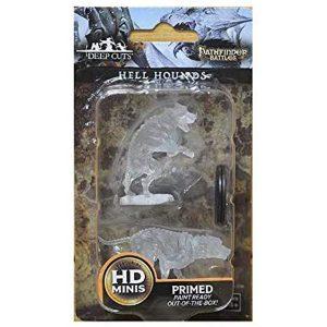 WizKids Pathfinder Deep Cuts Unpainted Miniatures Wave 1 Hell Hounds 72581