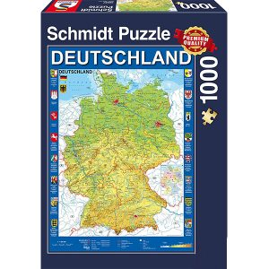 Schmidt 1000 Piece Puzzle Map of Germany 58287