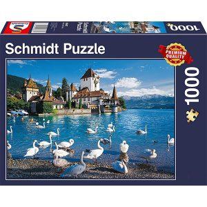 Schmidt 1000 Piece Puzzle Lakeshore Swans 58367