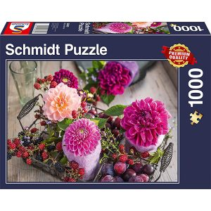 Schmidt 1000 Piece Puzzle Berries and Flowers 58369